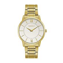 Caravelle by Bulova Men's Goldtone Stainless Steel White Dial Watch