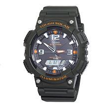 Casio Men's Tough Solar Black Sport Watch with Orange