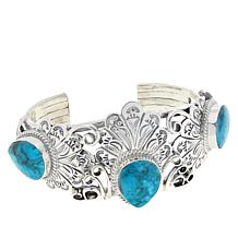 Chaco Canyon Sterling Silver Kingman Turquoise Navajo Cuff