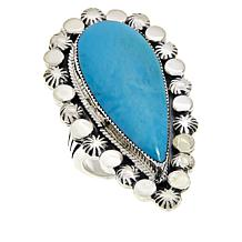 Chaco Canyon Turquoise Star and Raindrop Statement Ring