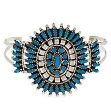 Chaco Canyon Zuni Kingman Turquoise Needlepoint Cuff Bracelet