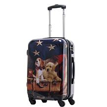 Chariot 20-inch Hardside Carry On Luggage - Freedom Pups