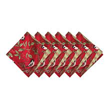 Chickadee Red Napkin 6-Pack