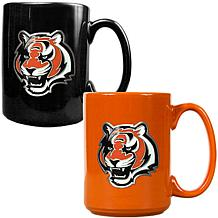 Cincinnati Bengals 2pc Coffee Mug Set