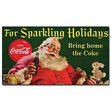 "Coca-Cola Santa ""For Sparkling Holidays"" Canvas Art"