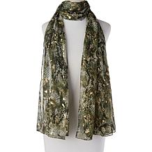 Collection 18 Snake-Print Scarf Wrap