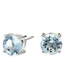 Colleen Lopez 2ctw Round Aquamarine Stud Earrings