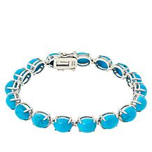 Colleen Lopez 9x7mm Oval Kingman Turquoise Tennis Bracelet