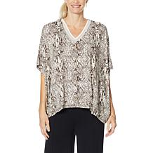 Colleen Lopez Button-Front Oversized Topper