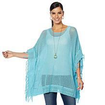 Colleen Lopez Crochet and Lace Poncho Top