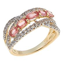 Colleen Lopez Fancy Sapphire and White Zircon 10K Gold Ring
