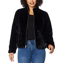 Colleen Lopez Faux Fur Zip-Front Jacket