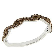 Colleen Lopez Sterling Silver .17ctw Colored Diamond Braided Band Ring