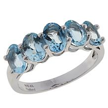 Colleen Lopez Sterling Silver 5-Stone Gemstone Ring