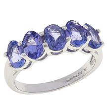 Colleen Lopez Sterling Silver 5-Stone Tanzanite Ring