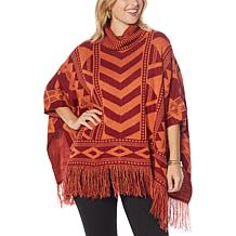 Colleen Lopez Turtleneck Poncho Sweater