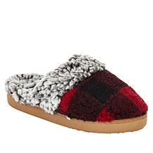 Comfort Code Buffalo Plaid Faux Sherpa-Lined Clog Slipper