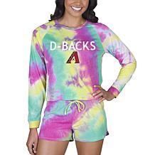 Concepts Sport MLB Velodrome Ladies LS Top and Short Set- Diamondba...