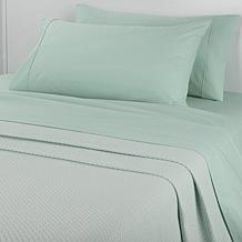 Concierge Collection 100% Cotton Sheet & Blanket Combo