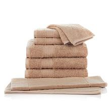 Concierge Collection 8-pc 100% Turkish Cotton Towel Set with Bath Mat