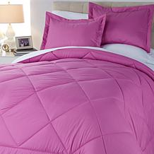 Concierge Collection Diamond Quilted 3pc Comforter Set