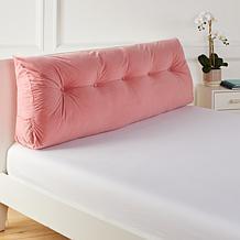 Concierge Collection Tufted Velvet Bolster Pillow