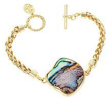 Connie Craig Carroll Jewelry Isla Abalone Station Bracelet