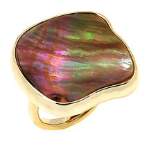 Connie Craig Carroll Jewelry Morgan Caramel Mother-of-Pearl Ring