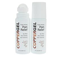 CopperGel Pain Relief Roll-On Gel 2-pack