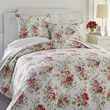 Cottage Collection Floral 3-piece Quilt Set