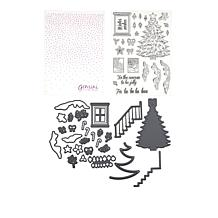Crafter's Companion Christmas Tree Stamps, Dies and Folder Bundle