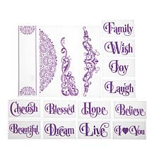Crafter's Companion Embossing Folders - Sentiments and Accent Swirls