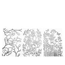 Crafter's Companion Floral Surprise Resist Silhouette Stamps