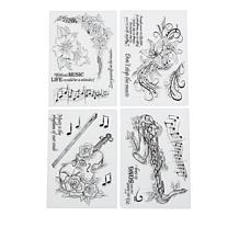 Crafter's Companion Floral Symphony Clear Stamps 4-pack