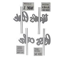 Crafter's Companion Gemini Gatefold Word Stamp and Die Set
