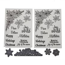 Crafter's Companion Poinsettia Corner Stamp and Die Set