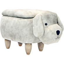"Critter Sitters 15"" Plush Animal Storage Ottoman - Dog"