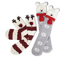Curations 2-pack Novelty Sock Gift Set