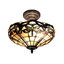 Dale Tiffany Cabrini Semi-Flush, Ceiling-Mounted Lamp