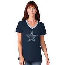 Dallas Cowboys Women's Play the Ball Short-Sleeve Tee