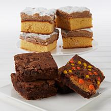 David's Cookies 16-piece Brownies & Crumb Cakes Assortment with Boxes
