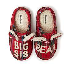 Dearfoams Big Sis Bear Plaid Clog