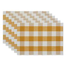 Design Imports Buffalo Check Placemats 6-pack
