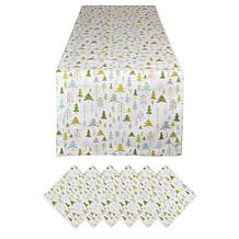 Design Imports Holiday Woods Printed Table Set