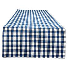 "Design Imports Reversible Gingham Buffalo Check 14"" x 72"" Table Run..."