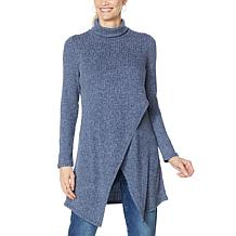 DG2 by Diane Gilman Crossover Turtleneck Drama Top