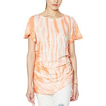 "DG2 by Diane Gilman ""DG Downtime"" Tulip-Sleeve Cinch Tee"
