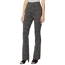 DG2 by Diane Gilman Pull-On Stretch Ponte Boot-Cut Pant