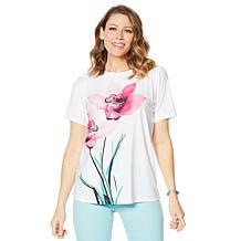 DG2 by Diane Gilman Short-Sleeve Floral-Print Top