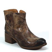 Diba True Walnut Grove Leather Western Ankle Boot